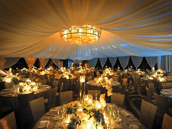 backyard wedding on a budget reception tent